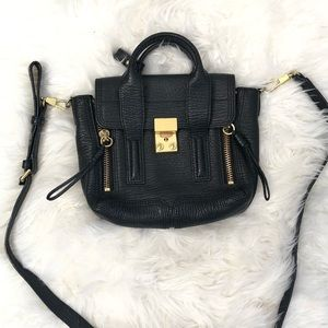 3.1 Phillip Lim Pashli Mini Satchel Bag Black